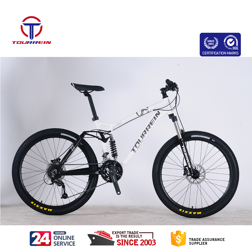 aluminium hydraulische schijfrem 27 speed 26 inch full suspension china trinx mountainbike