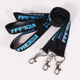 Custom made digital jdm black and blue silk printed lanyard printer