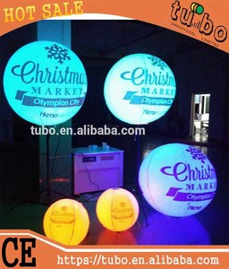 hot sale inflatable advertising LED light tripod balloon for party / club/ activity/ show decoration