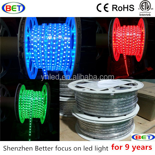 ETL CE Rohs 120V Rgb Led 100m Roll Luces Strip Neon Flex Ribbon 220 Decoration Lights Led Line