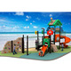 Eco-friendly LLDPE plastic treehouse-style kids sliding toys with 19 optional site sizes