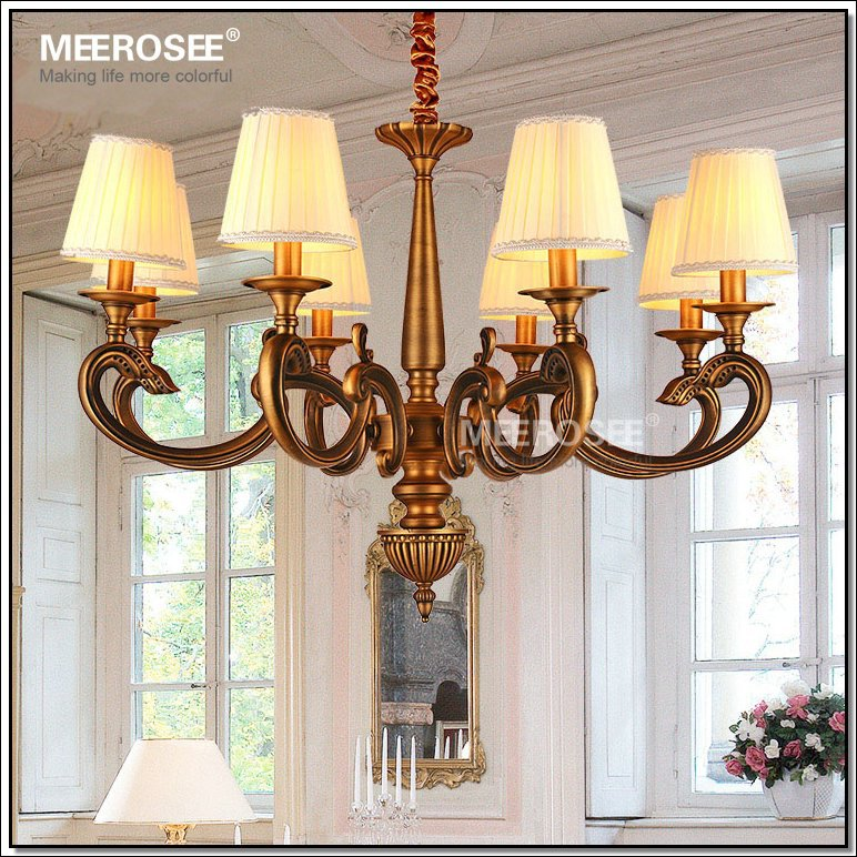 Brass Wall Sconce Single Light Chandelier Sconce With Lampshades ...