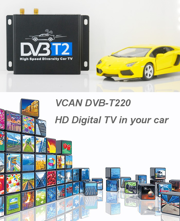 Singapur Dvb T2 Set Top Box Auto Dvb T2 2 Tuner Empfänger 2 Antenne