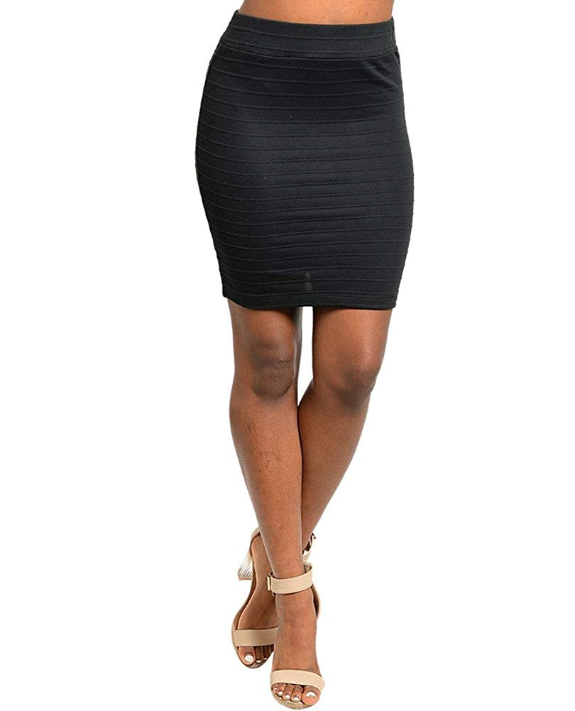 Capella A Stretch Mini Skirt Featuring an Allover Print