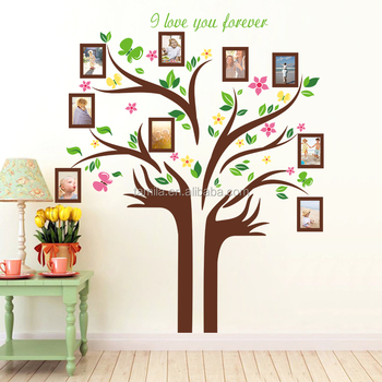 New Design Large Family Tree Vinyl Wall Decal Peel And Stick Vinyl ...