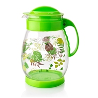 High Borosilicate Colored Green Flower Clear Juice Glass Pot