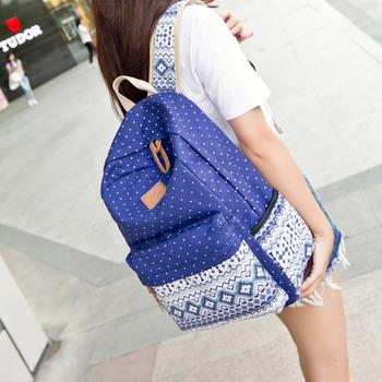 6ea9af6701 Best Casual Vintage Cute Dot Printing Canvas School Bags Backpack For  Teenagers girls