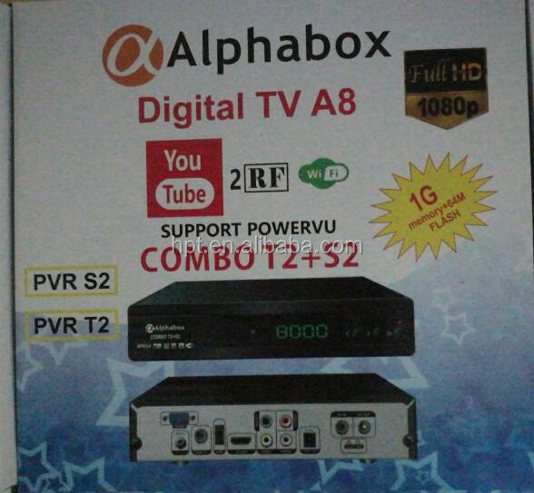 Alphabox A8 X6 DVB-S2/ T2 COMBO biss powervu receiver 168mm size