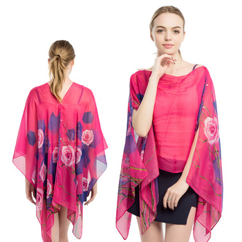 b1ac666f4598a Sexy chiffon beach skirt print sunscreen temperament beach towel Summer  scarf