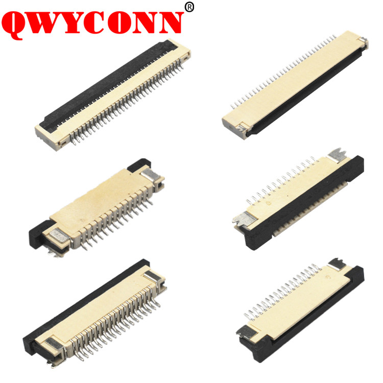 0.5mm/ 0.8mm/ 1.0mm Pitch SMT ZIF DIP Vertical Dual Single contact 40 pin FPC/FFC connector
