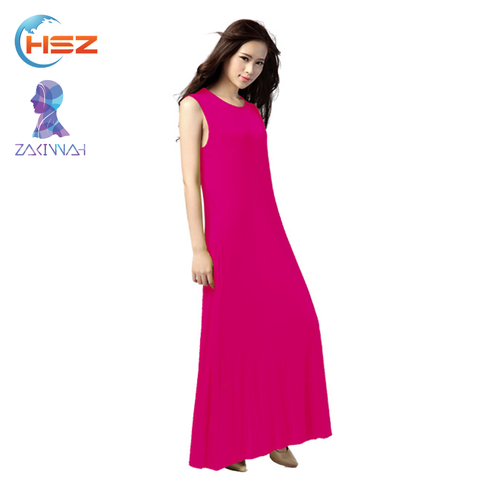 Zakiyyah 1055 color manga corta mujeres vestido musulmán abaya ropa ...