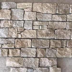 Natural grey quartzite slate cement ledgestone wall stone Panel