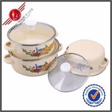 New Products Kitchen Utensil 3 Pieces Cheap Ceramic Enamelware