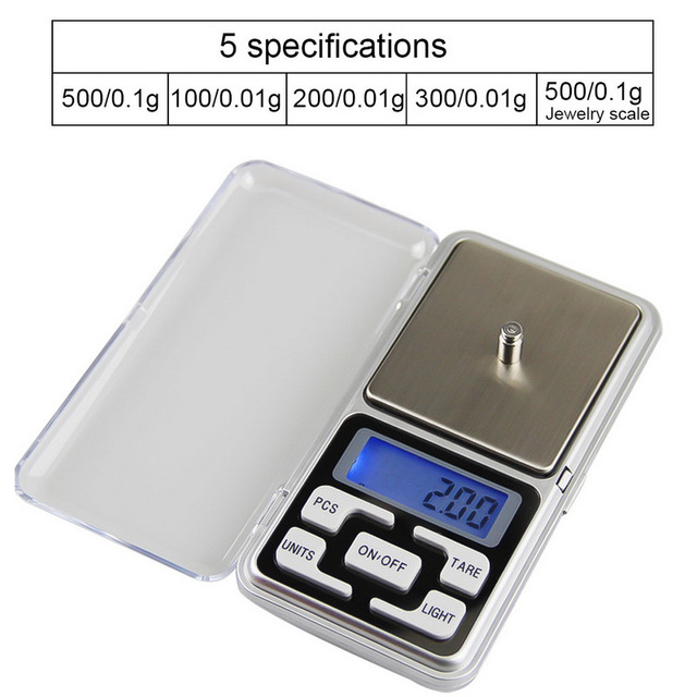200g/300g/500g x 0.01g Mini Pocket Digital Scale for Gold Jewelry Balance Gram Electronic Scales