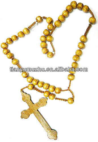 Nice service wooden christian rosary for loyal catholic