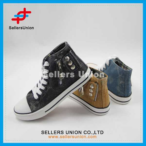 Lace-Up High Top Canvas Shoes