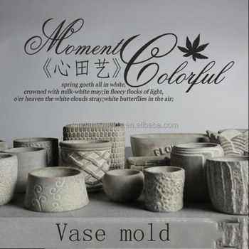 Multi Shapes Silicone Molds For Concrete Vase Silica Cement Mould