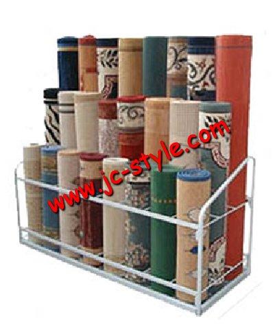 Retail Rolling Carpet Rug Display Stand