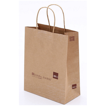 Promotion wholesale recycled paper shopping bag with logo printing