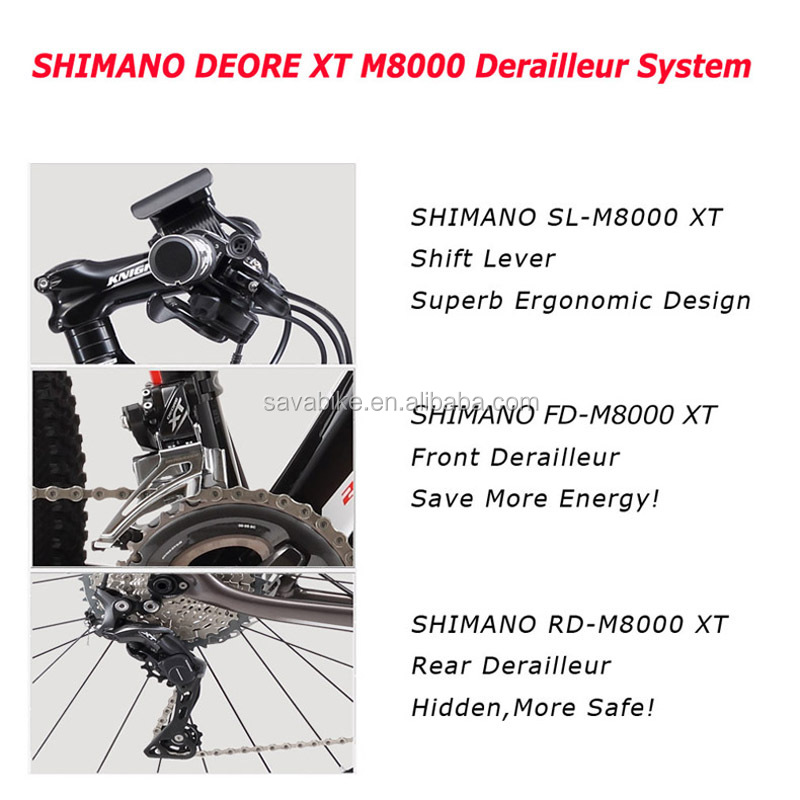 27.5 deore xt m8000 group set carbon mtb frame electric bike germany design electric bicycle factory electric bike