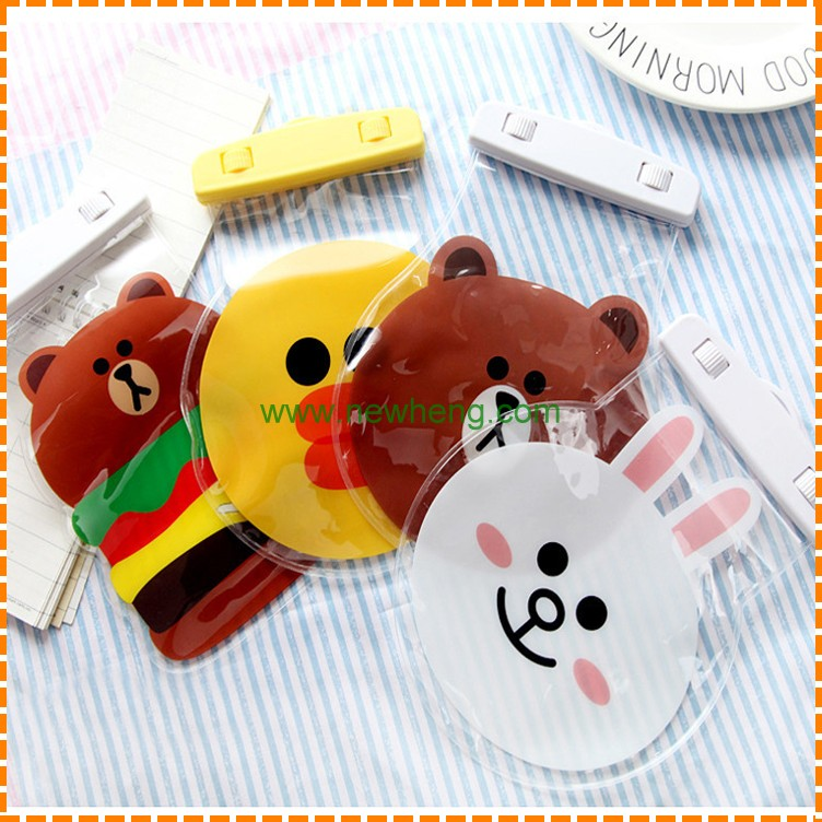 Universal Cartoon Lovely With Lanyard Plastic Waterproof Bag For iPhone 7 7 plus