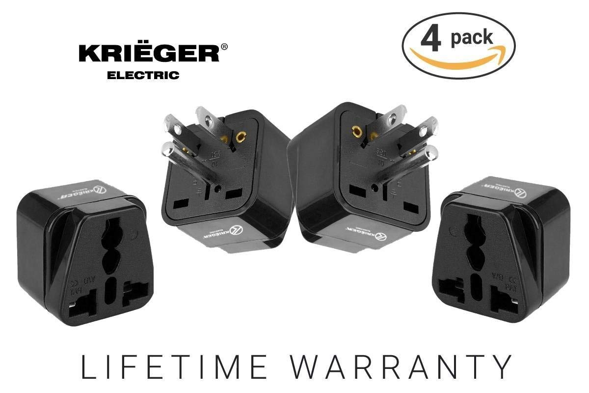 Japan /& More CE Certified RoHS Compliant Regvolt Grounded Universal 2 in 1 Plug Adapter Type B for USA