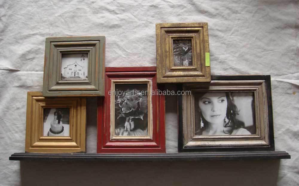 Vintage Custom Multi Apertura Pared De Madera Marco De Fotos ...
