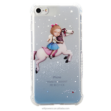 fashion mobile phone case accessory phone cover TPU case with custom printing for iphone 7