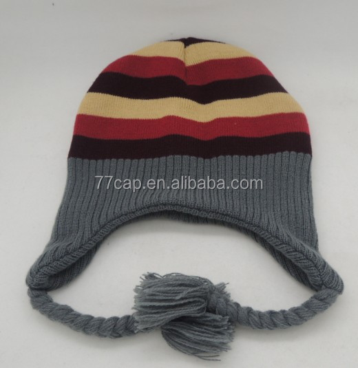 39aa7c25785 Funny Knitted Winter Earflap Hat Beanies Hat With Strings - Buy ...