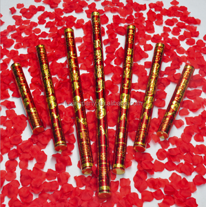 100cm wedding colorful rose red heart popper cannon with ce certificate