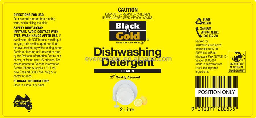 Custom Dishwashing Liquid Labels Buy Dishwashing Liquid