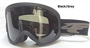 Matte Muted Black/Dark Grey Lens Windshield Mens Ski Snowboard Goggles