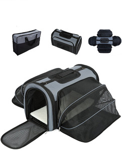 Expandable Soft Sided Airline Approved Pet Carrier for Cats and Dogs Pet Travel carrier Bag