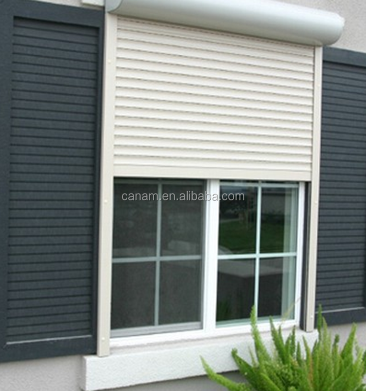 Hurricane Metal Roll up Window With Pu Foam