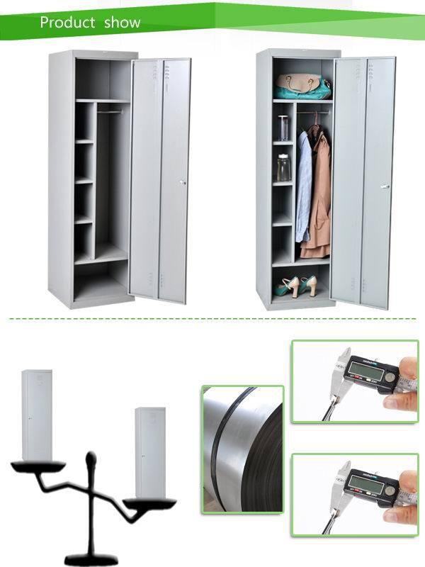 Single Door Cream Steel Cube Almirah Design For Small Room / 1 Tier Door  White Nursery Part 38