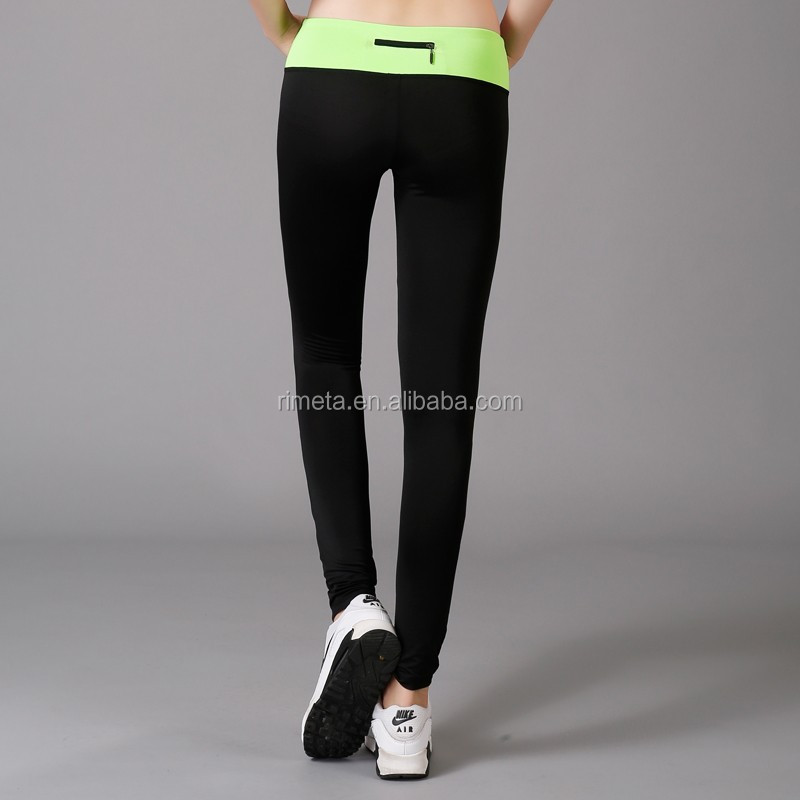 Classic hot sale sexy girls sport pants running pants yoga gym fitness wear casure work out wear with zipper