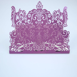 Promotional price pearl paper wedding favors laser cut wedding invitation card