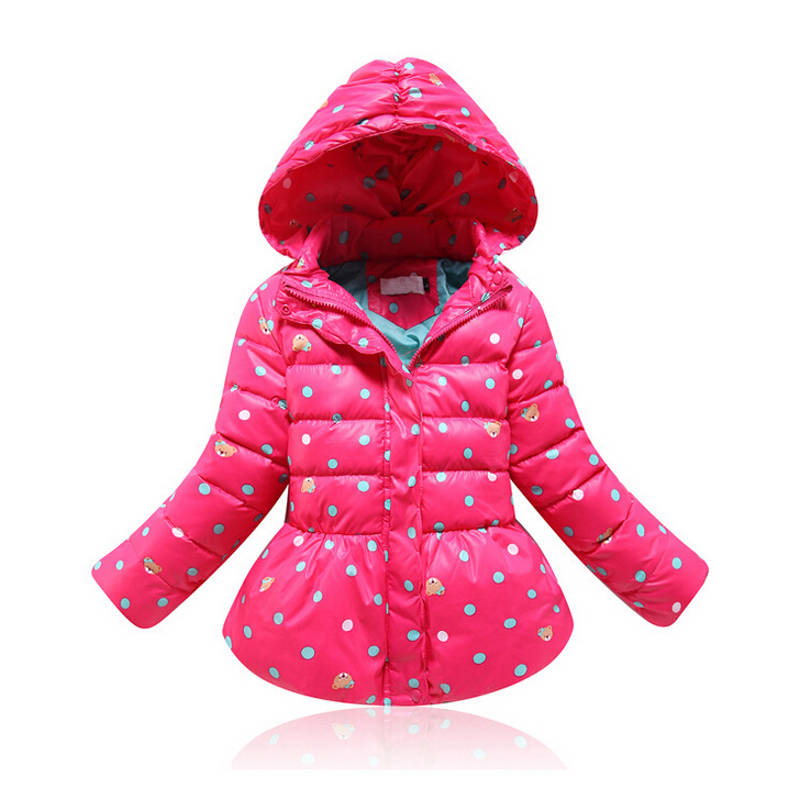 3Color Girls Winter Warn Korean style Coat&Jacket Baby Boys&Girls dot Cartoon Coat,Kids Winter Thick Outwear for 4-10Yrs