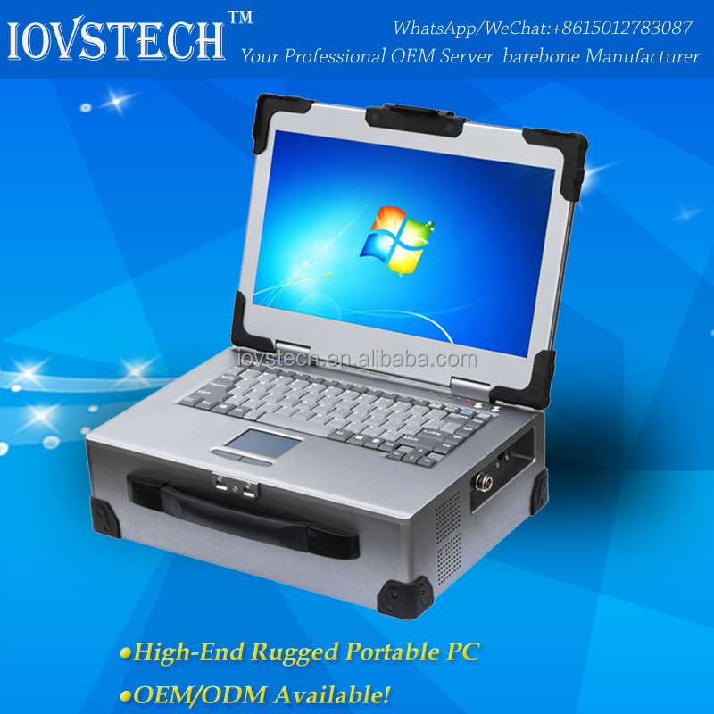 Industrial rugged portable pc with led screen and keyboard RPC14E3B