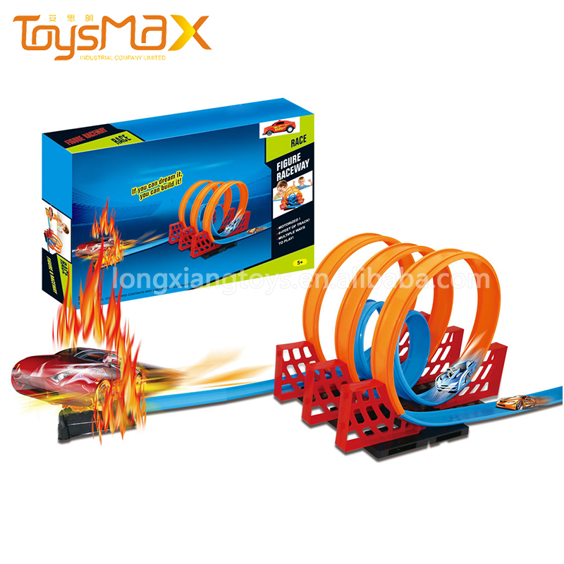 Toysmax Assembly Pull Back Cars Hot Wheels Magic Race Track For Kids
