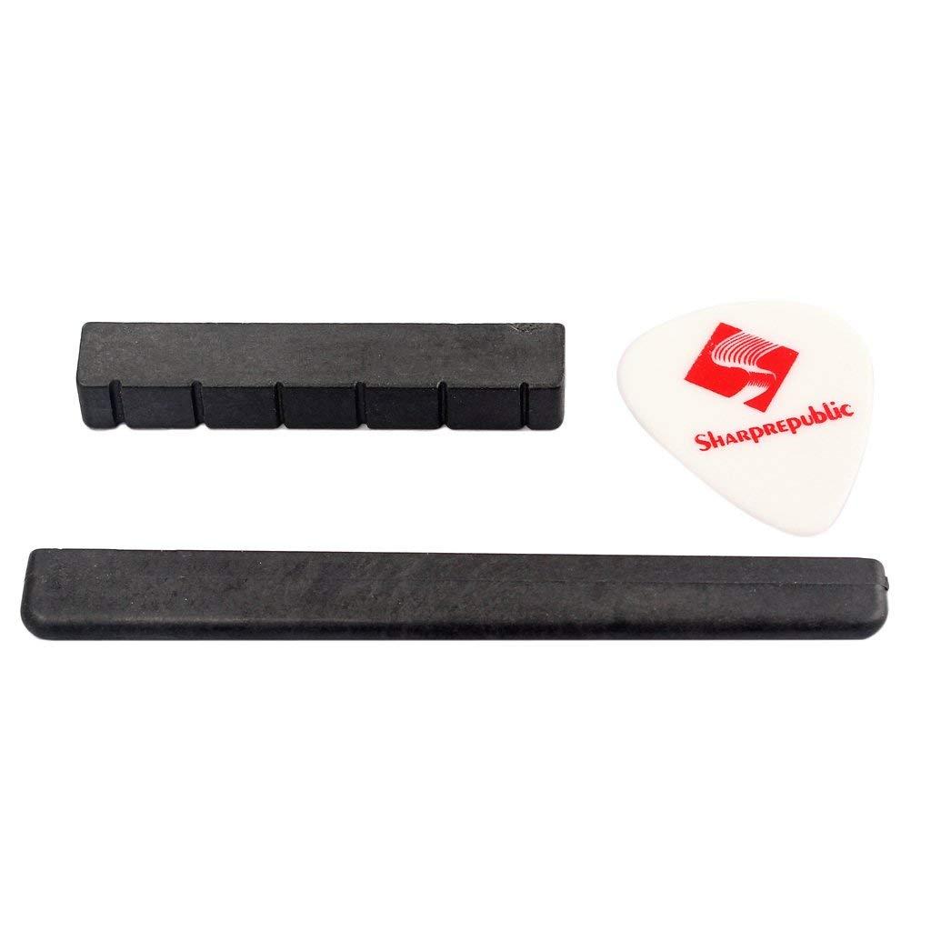 Fenteer Classical Guitar Bridge Saddle Nut for Classic Guitar Musical Instrument Accessory