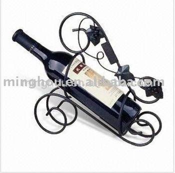 Single Bottle Metal Wine Rack Crafts Holder