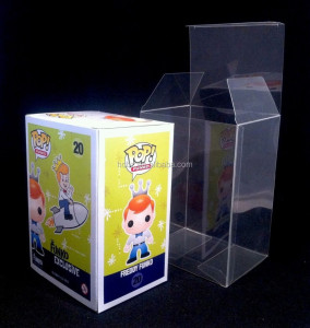 Customized clear plastic protector case for funko pop