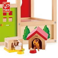 Wooden children's play family Pets house toy