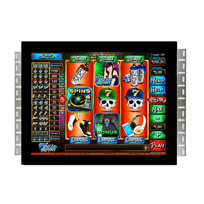 19'' Open Frame Touch Screen Monitor For Pot O Gold And Wms Gaming