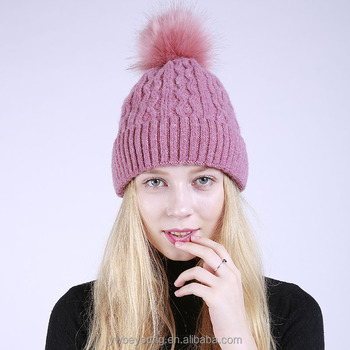2018 New Arrival Solid Color Wool Soft Warm Thick Knitted Colorful Beanie  Hat With Pom Pom - Buy New Arriva Pom Pom Beanie 1acfc9ccd79