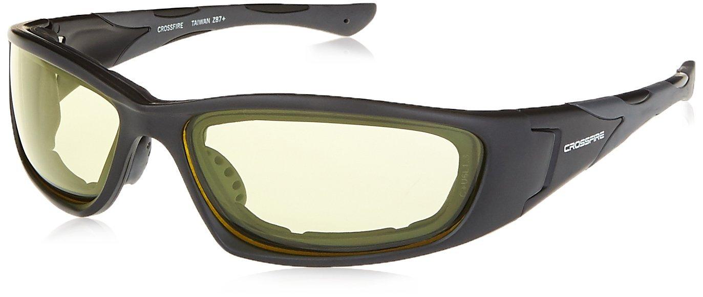 5ccfbf5051 Buy Crossfire Safety Glasses MP7 Yellow Lens Matte Black Frame Foam ...