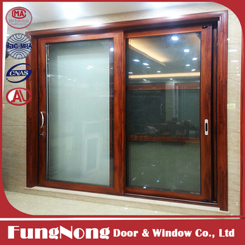 Wooden Finishing Double Tempered Glass Hurricane Impact