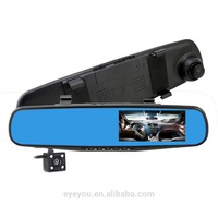 great price G-sensor rearview mirror with 4.3 inch LCD display 1080P Car Dash Camera DVR