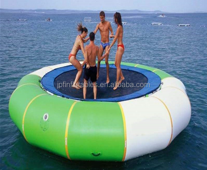 inflatable water trampoline with spring and steel tubes